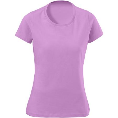 pink female t-shirt isolated on white background photo
