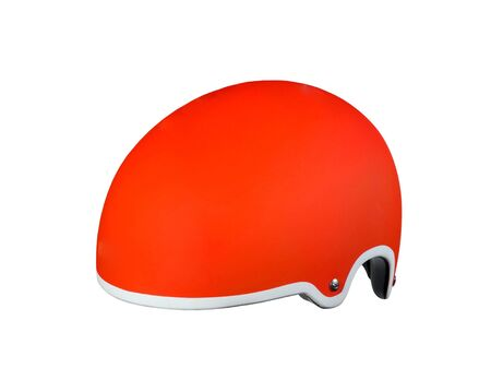 Red helmet on a white background photo