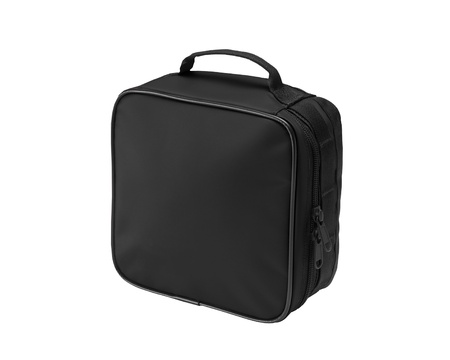 Black bag isolated on a white background. photo