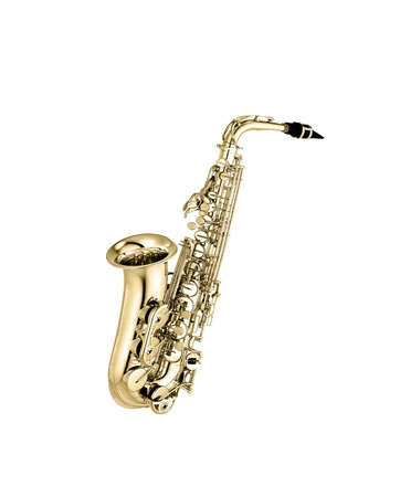 saxophone isolated under the white background photo