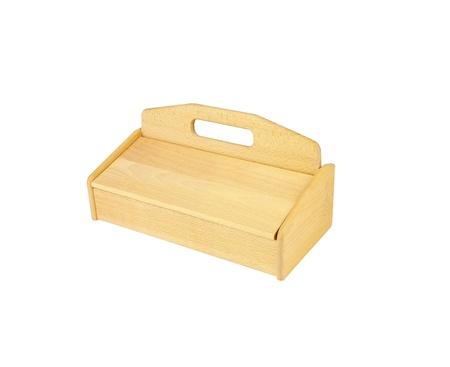 breadbasket: wooden breadbasket for bread isolated on white background