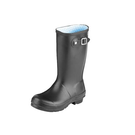 Gum Boot isolated against a white background photo
