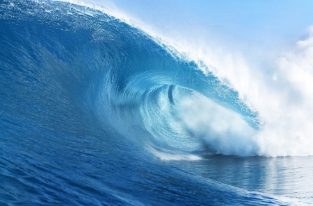 pacific ocean: Blue Ocean Wave