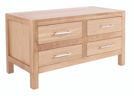 Chest of Drawers isolated with clipping path Stock Photo