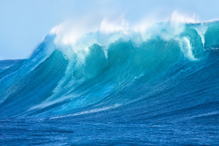 Beautiful Blue Ocean Wave photo