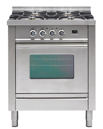 gas cooker over the white background photo