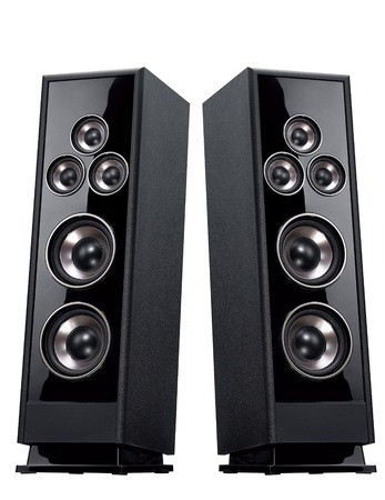speakers: Acoustic system isolated vertically