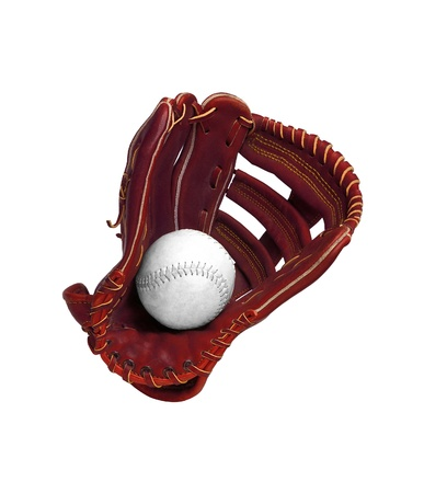 Baseball glove isolated on white photo