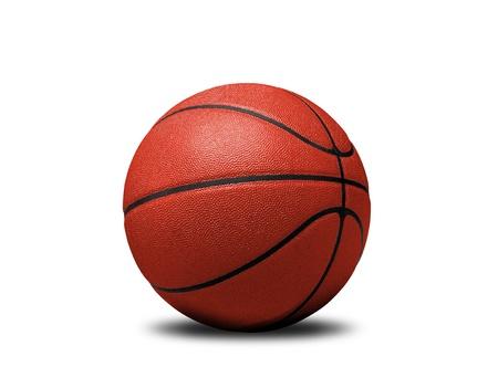 白で隔離されるバスケット ボール 写真素材