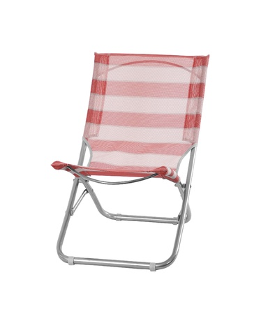 Camp chair isolated on white background photo