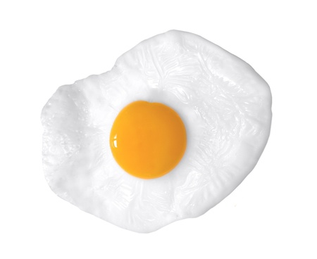 scrambled: close up shot of a fried egg