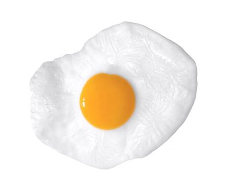 huevos estrellados: disparo de cerca de un huevo frito