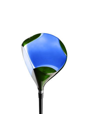 Golf stick isolated on white photo