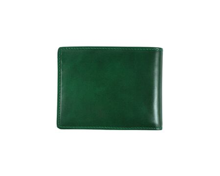 green wallet on a white background photo