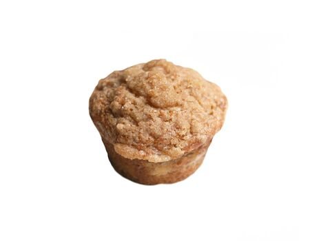 sweet and savoury: single muffin isolated on a white background Stock Photo