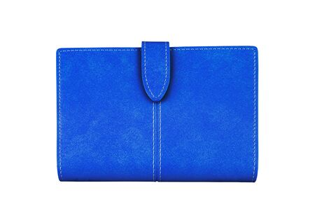 handlers: Blue Wallet. On a white background. Stock Photo