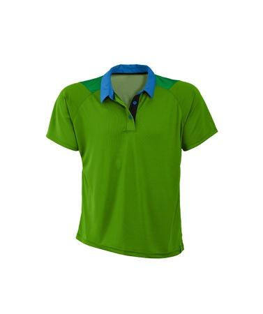 polo shirt: Polo shirt. On a white background. Stock Photo
