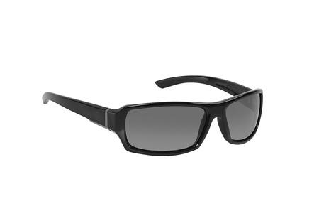 isolado no branco: Óculos de sol pretos no fundo branco