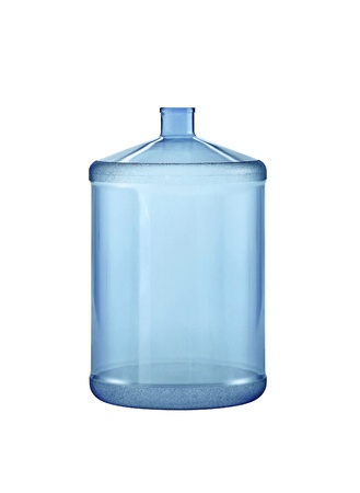 Big water bottle. On a white background. photo