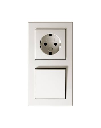 Socket & switch. On a white background. photo