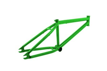 extreme angle: Bicycle frame isolated on white Stock Photo
