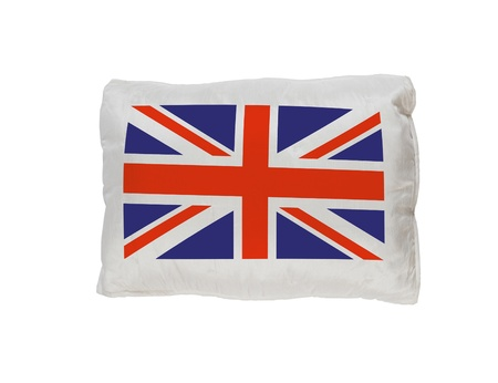 britan: UK flag pillow isolated Stock Photo