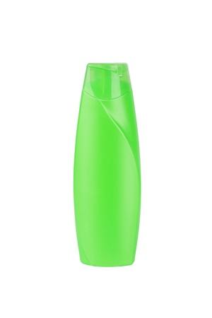 Green plastic bottle photo
