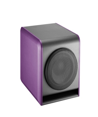 Purple speaker Stock Photo - 14729332