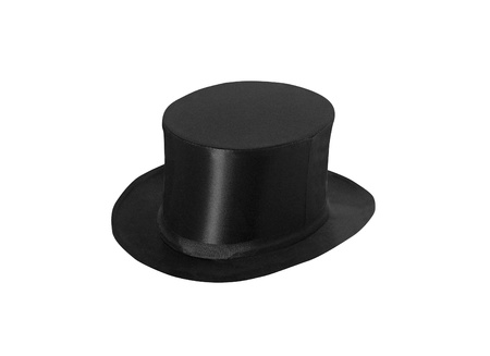 top hat cylinder isolated on white photo