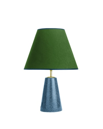 Table lamp isolated on white background photo