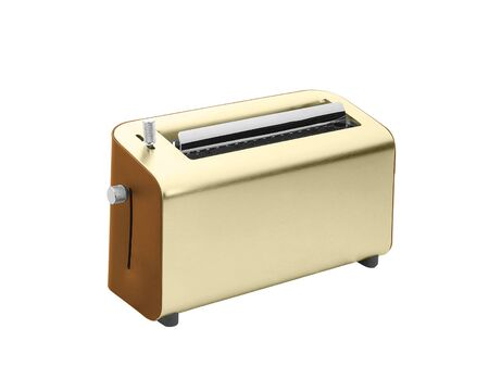 goldy: Toaster isolated on white