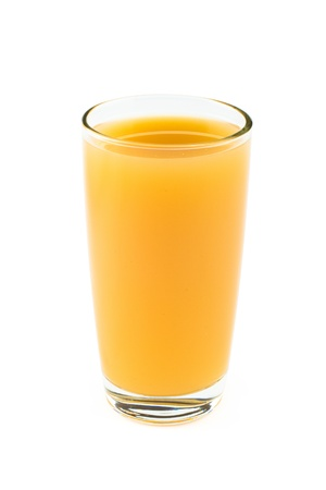 orange juice: Full glass of orange juice Stock Photo