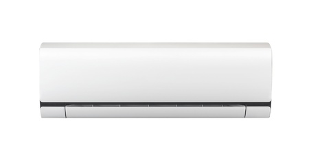 expel: white air conditioner isolated on white