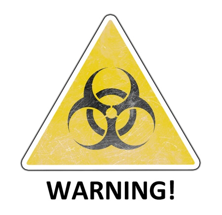 hazardous imperil: Warning sign isolated on white