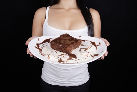 woman hold cake Stock Photo - 15298512