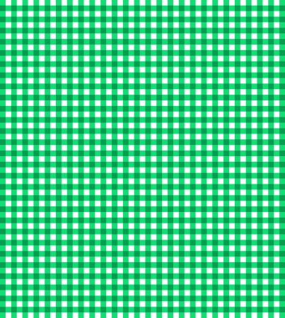 Green vector checkered picnic tablecloth photo
