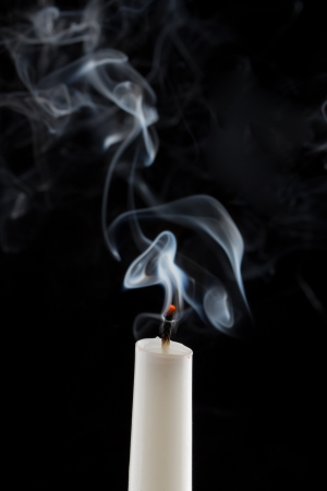 Extinguished candle with smoke (Metaphor of the death)