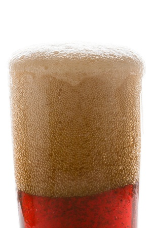 the carbonation: Soda in a glass
