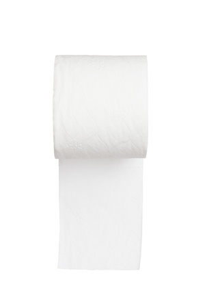 toilet paper on white background Stock Photo - 15293516