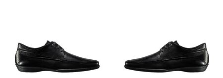 The black mans shoes isolated photo