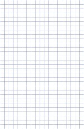 Detallada matemáticas patrón de papel en blanco