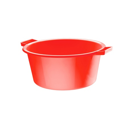 red basin isolated Stock Photo - 15298760