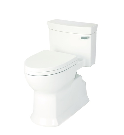 toilet bowl, photo on the white background Stock Photo - 15293529