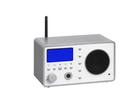 Radio receiver on a white background photo