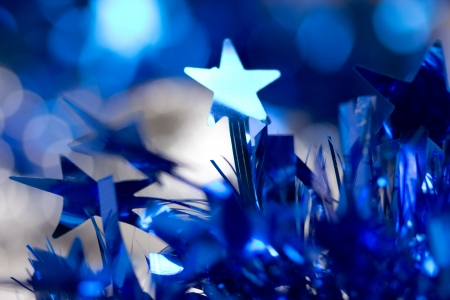 blue christmas background photo