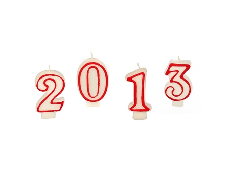 new year 2013 - candles isolated Stock Photo - 16414761
