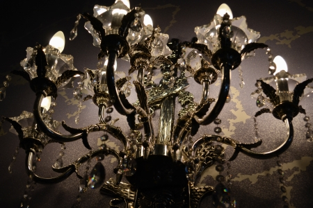 chandelier close up photo