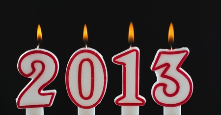 Burning candles for year 2013 Stock Photo - 16853187