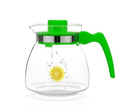 Jarra de agua con limón Foto de archivo - 16853029