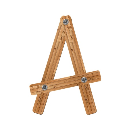 wooden alphabet - letter A� on white background photo